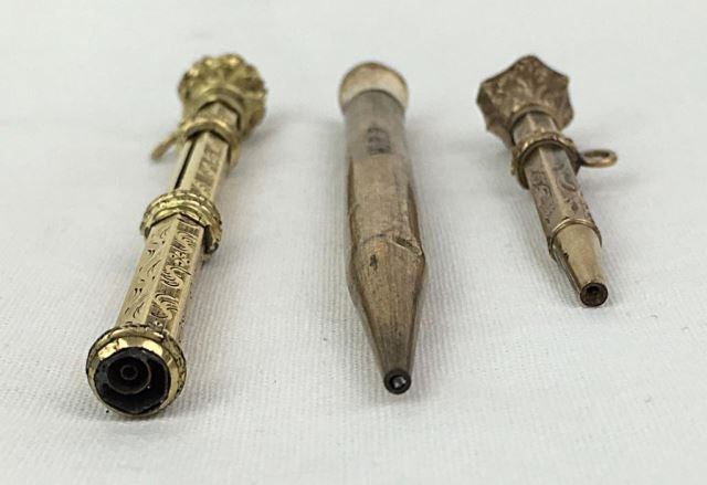 Group of 3 Gold Filled 19th C. Pens - 2