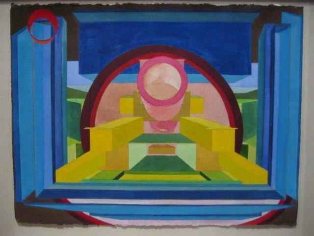 """Al Held Original Watercolor """"Hudson 13""""  1989"""