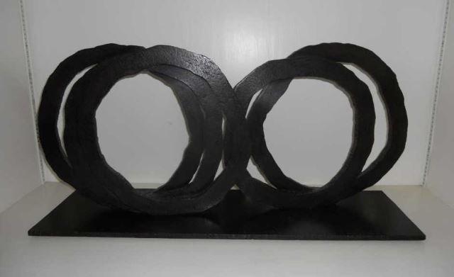 Bernar Venet Sculpture Five Indeterminate Lines