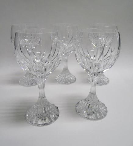 Five Baccarat Wine Glasses Messina