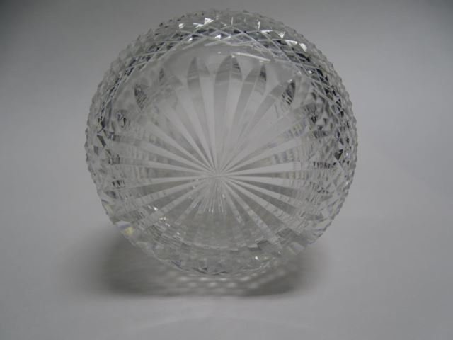 Set of 6 Etched Thistle Crystal Tumblers - 2