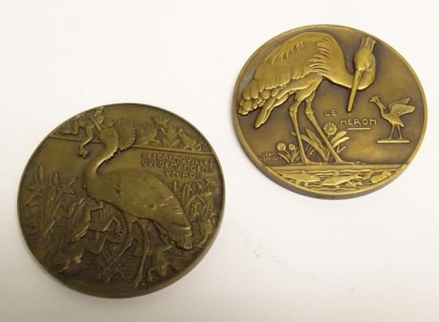 Two French Bronze Medallions