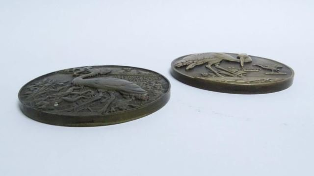 Two French Bronze Medallions - 2