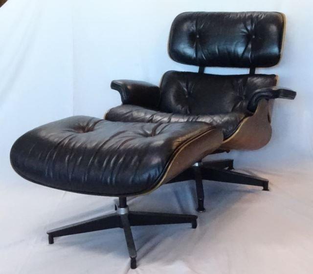 Vintage Herman Miller Eames Chair w/Ottoman