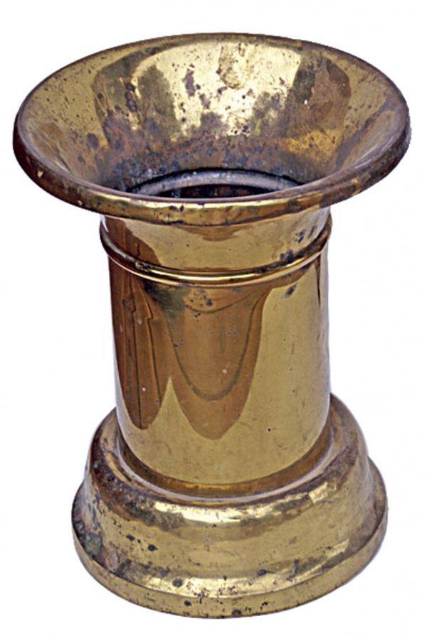 3: Tall brass spittoon. LS Coll.