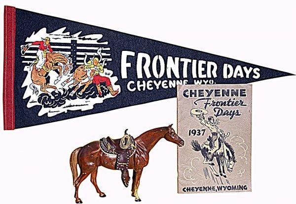 4: Cheyenne Frontier Days pennant, 1937 program, cast-i
