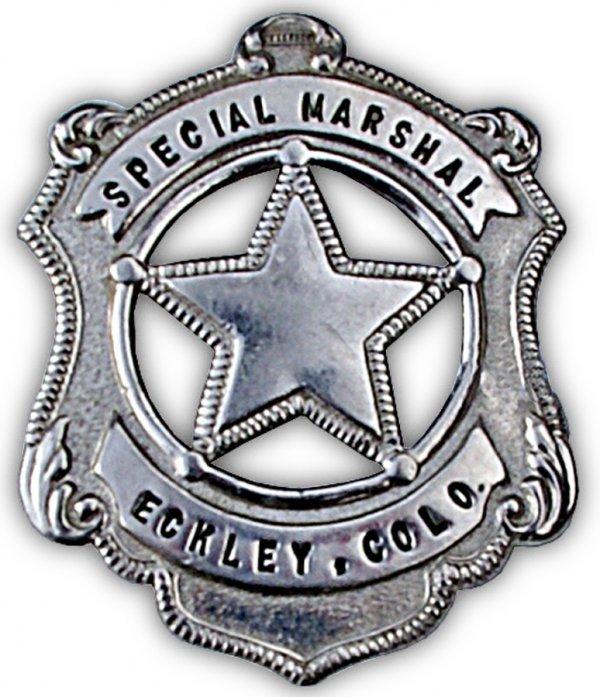 22: Rare Eckley Colo. Special Badge. Eckley is located