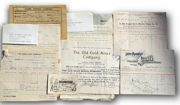 522: 21 pieces of mining papers and certificates from C