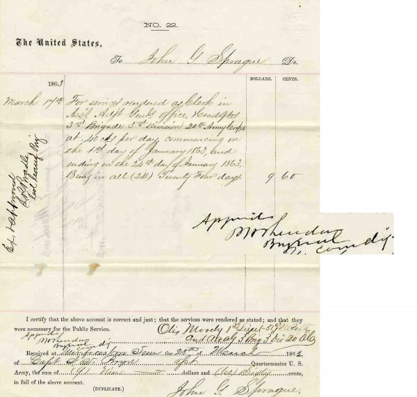 2: CW Document Signed Calvary General Phillip Sheridan