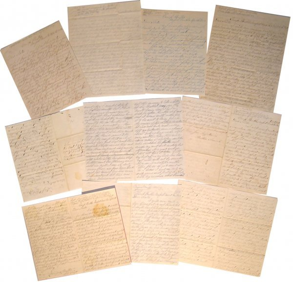16: Mass. Infantry ALS American Civil War Letters Signe