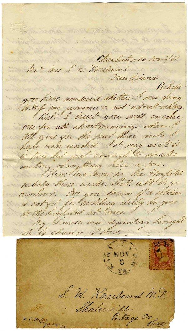 533: Ohio Infantry ALS American Civil War Letter Signed