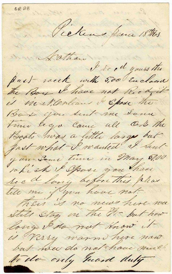 683: Union Soldier ALS American Civil War Letter Signed