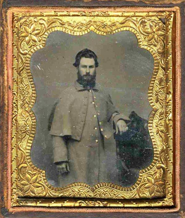 1113: Civil War Tintype Confederate Soldier Photo