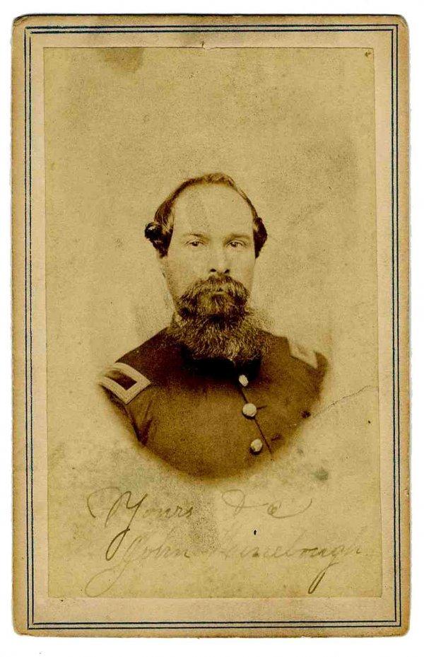1117: Carte De Visite Lieutenant West Virginia Cavalry