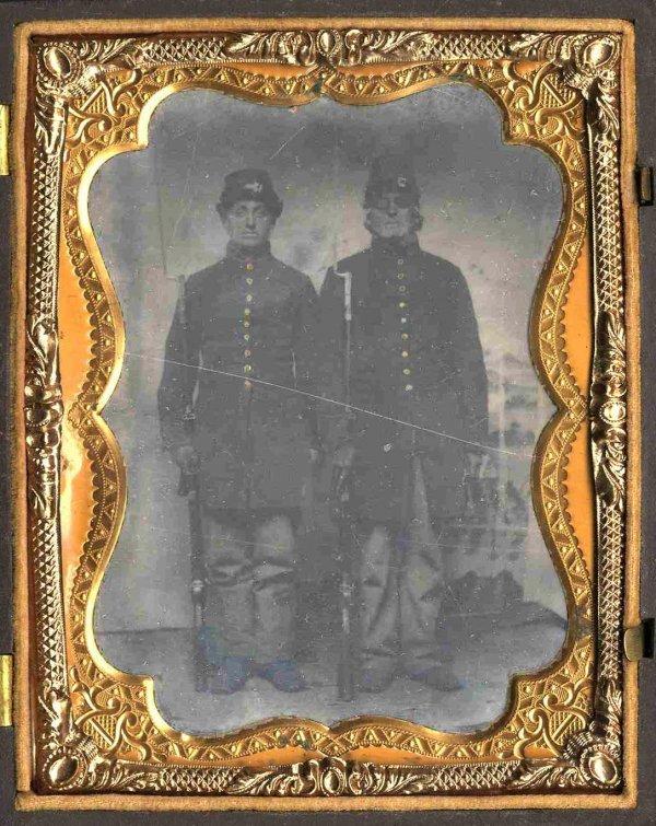 1119: Civil War Tintype Soldier Artillery Photograph