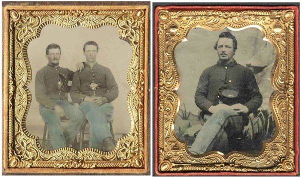 1120: Civil War Tintypes Union Soldiers Photograph