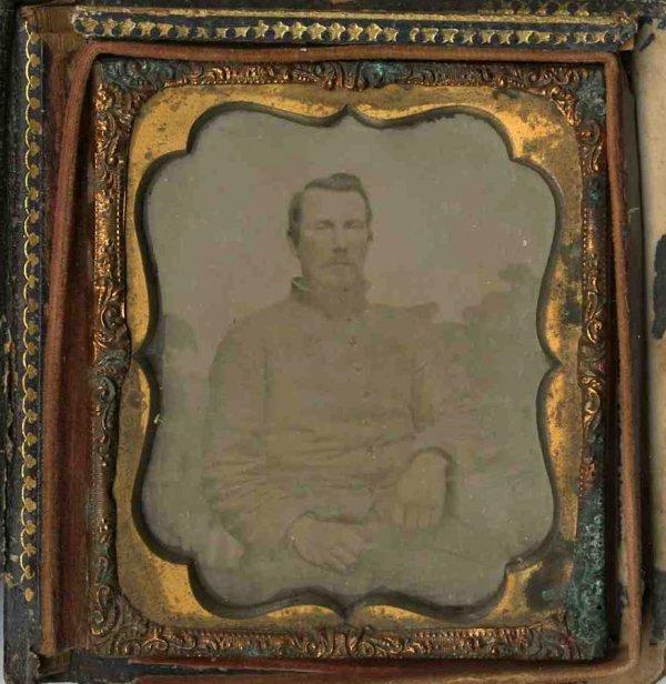 1125: Civil War Ambrotype Confederate Photo Pic