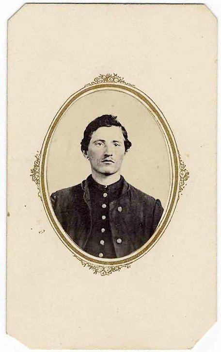1487: Civil War CDV Henry Rau Pennsylvania Photo