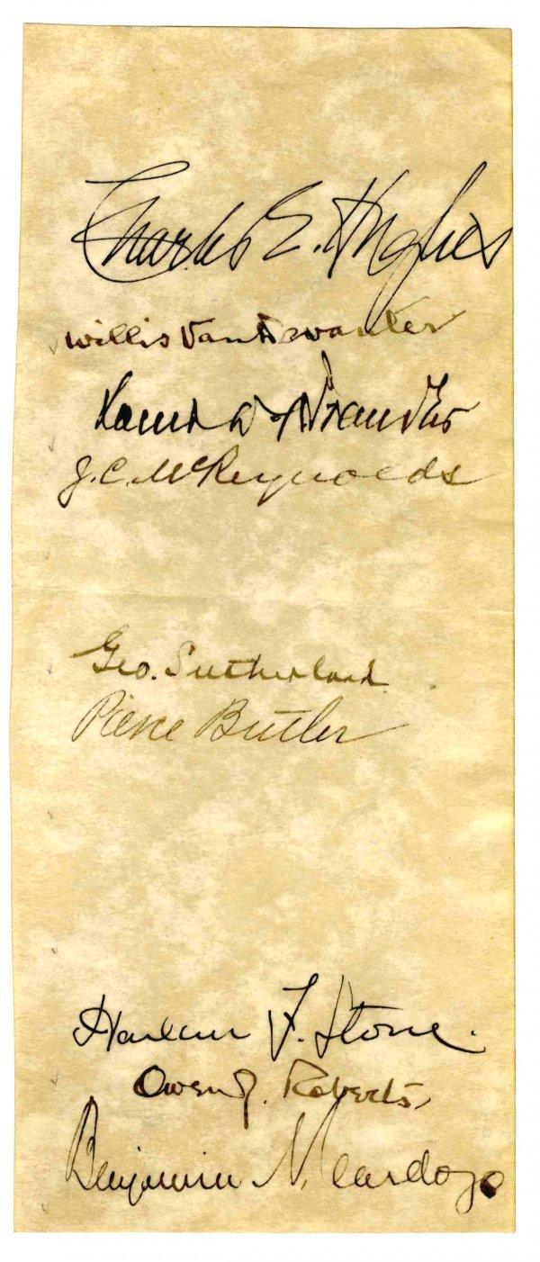 1582: Supreme Court Signed Photo Charles Hughes Brandei