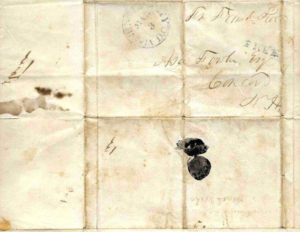 1583: Franklin Pierce Senator Signed Autograph Presiden