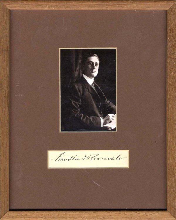 1584: Franklin Roosevelt Signature Photo Presidential F