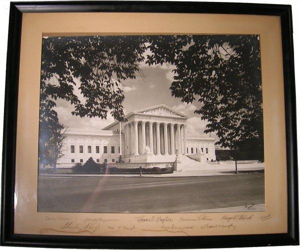 1590: Rare Hughes Supreme Court Photo Signed Justice Fr