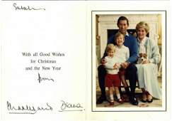 1591: Prince Charles Princess Dianna Signed Autograph C