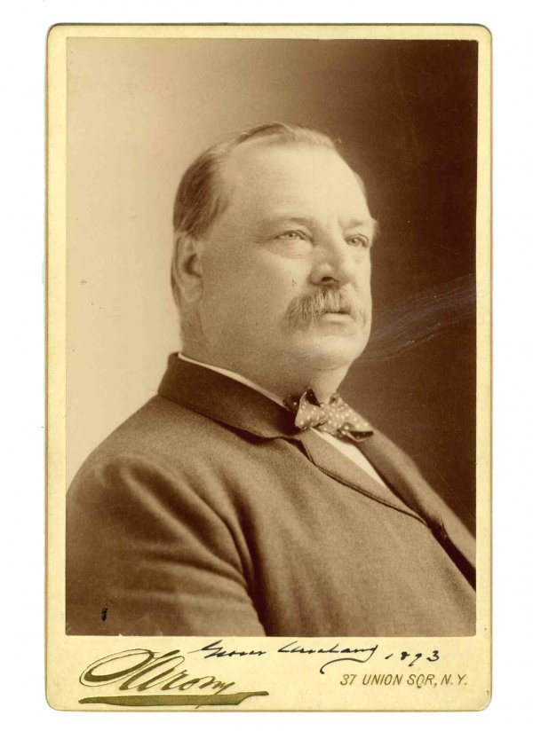 1593: Grover Cleveland Signed Photo President Autograph