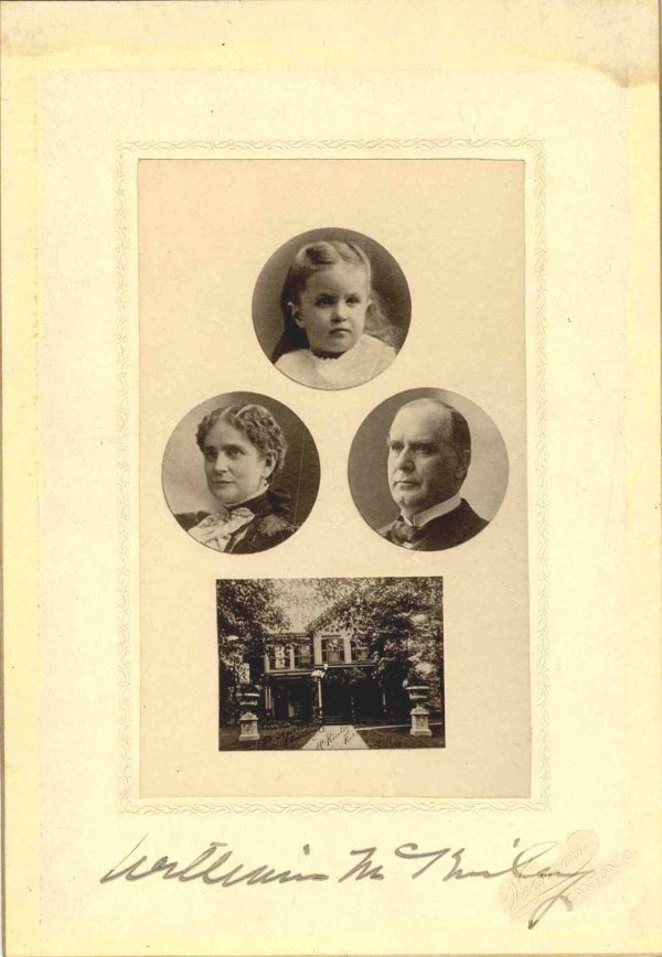 1598: William McKinley Signed Family Composite Wife Dau