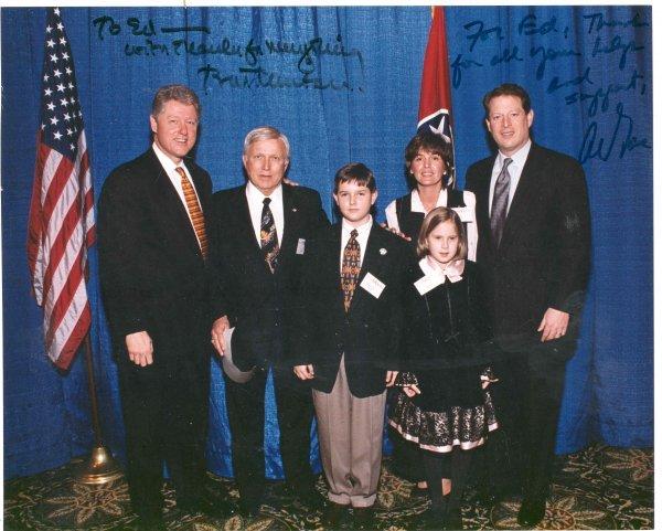 1604: Bill Clinton Al Gore Signed Photo Autograph Presi