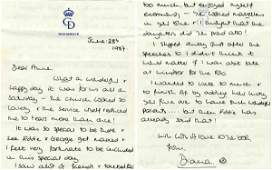 1716: Princess Diana ALS Letter Signed Royal Family Wal