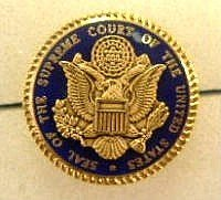 1886: U.S. Supreme Court Cobalt Lapel Pin Gifts Gold Pl