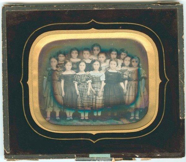 2250: Fourth-Plate Daguerreotype School Girls
