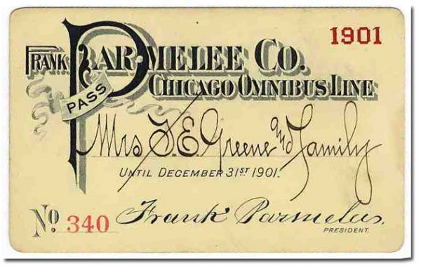 2662: Frank Parmelee Co. Chicago Omnibus Line RR Railra