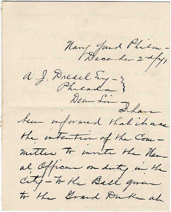 3346: Civil War ALS Naval Paymaster Letter Signed Navy