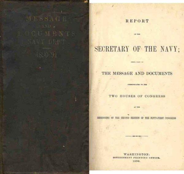 3347: U.S. War Report Secretary Navy First Illustration