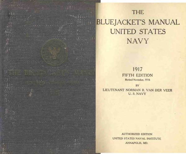 3348: Bluejacket Manual United States Navy Lieutenant V
