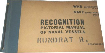 3349: Classified War Department Manual Naval Vessels Ph