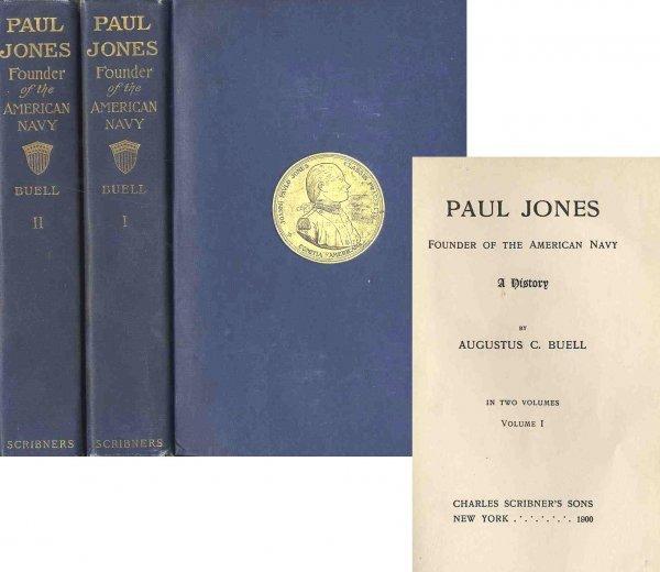 3351: Paul Jones Founder American Navy History Buell Fi