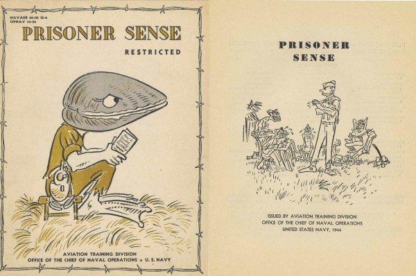 3355: U.S. Navy Training Booklet Prisoner Sense War Mil