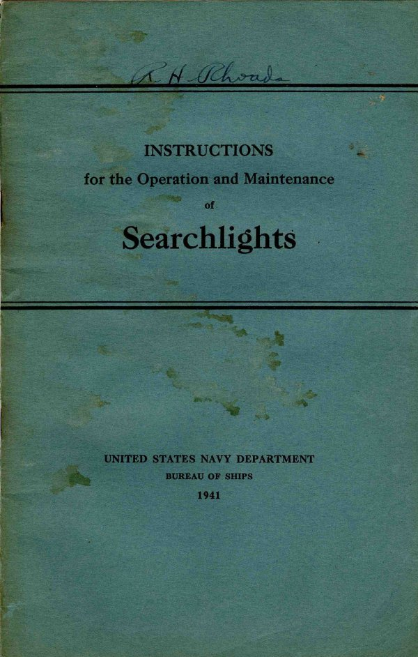3356: War Ship Instructions Operation Searchlights U.S.