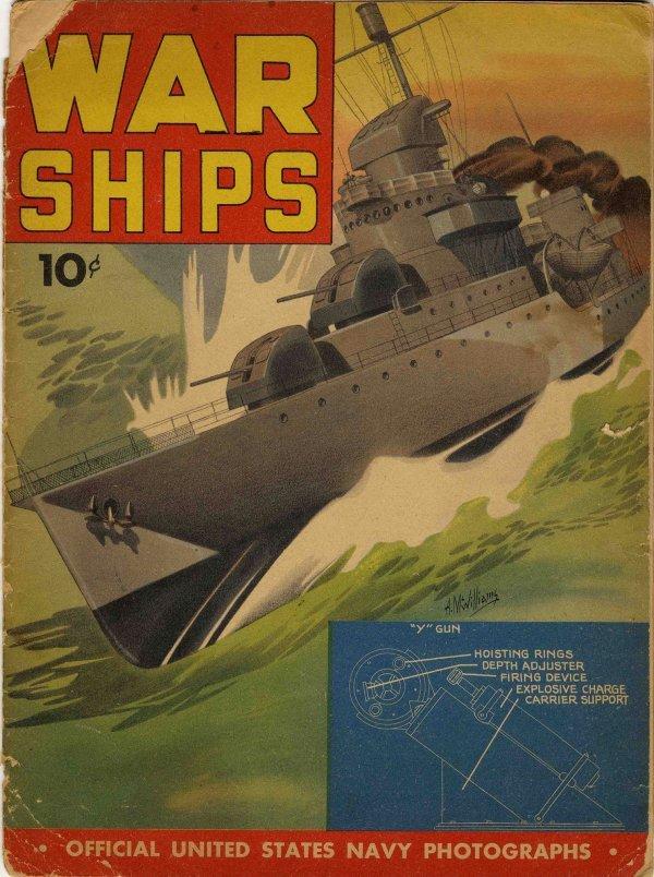 3358: Military U.S. Navy Magazine War Ships WWII Americ