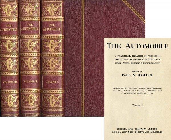 3367: Automobile Paul Hasluck Rare Volumes 1909 Book Mo
