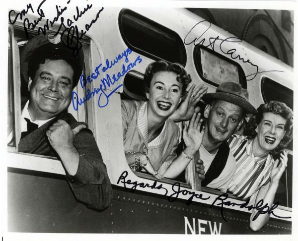 2780: Honeymooners Photo Signed Gleason Carney Autograp