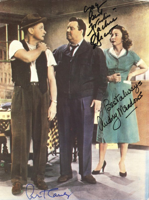 2782: Cast Signed Honeymooners Magazine Sitcom Gleason