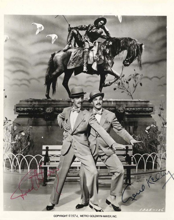 2783: Photograph Signed Gene Kelly Fred Astaire 1974