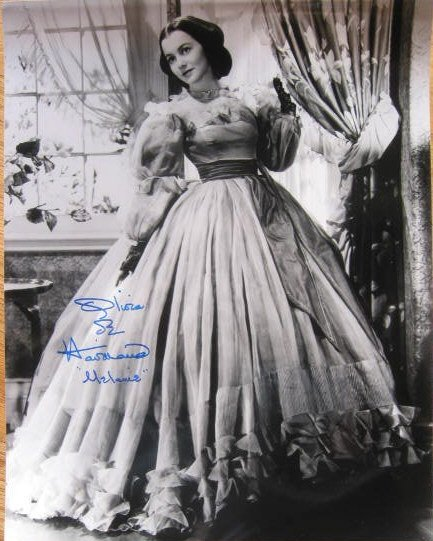 2791: Olivia De Havilland Signed Photo Gone With Wind A