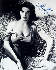 2798: Jane Russell Signed Photograph Autograph Sig