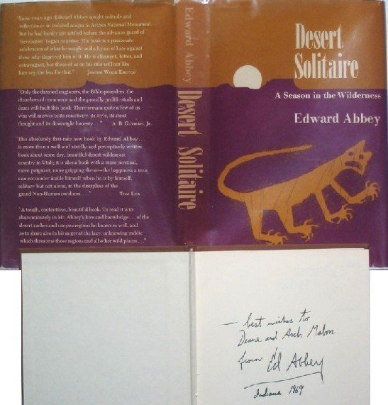 2978: Edward Abbey Desert Solitaire First Edition Sig 1