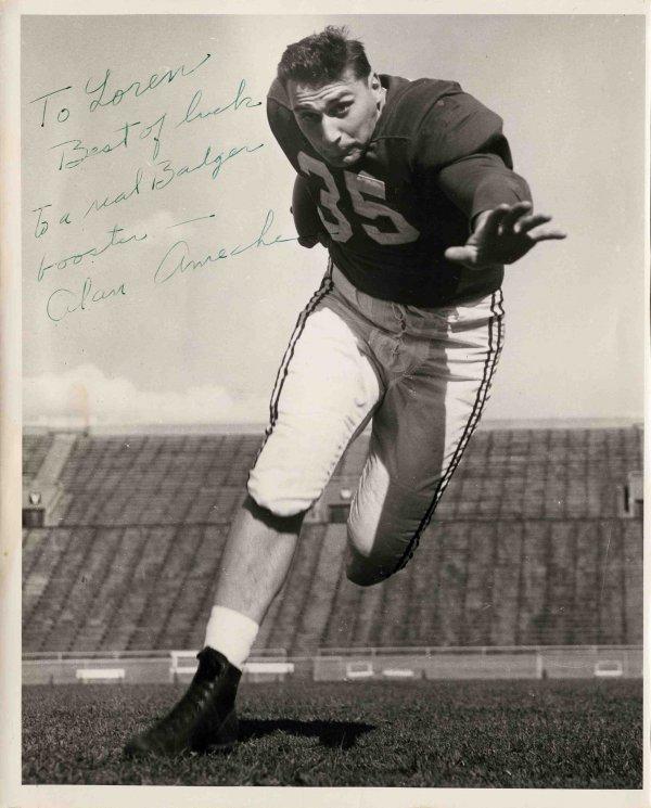 3878: NFL Signed Photograph Star Runningback Alan Amech